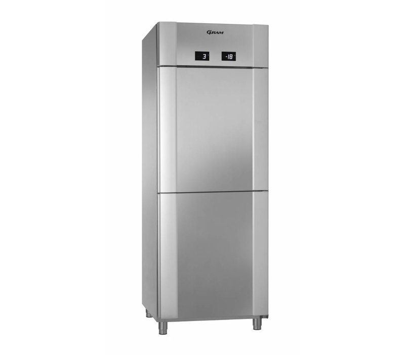 Gram Combi Fridge / Freezer Stainless Steel | Gram ECO TWIN KF 82 CCG COMBI L2 4S | 2x 228L | 820x785x2125 (h) mm