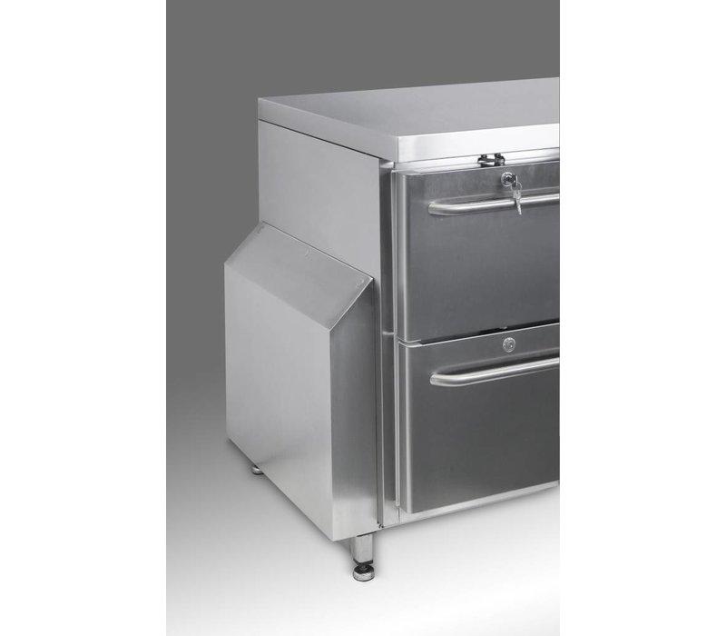 Gram Cool Workbench SS | 3 Doors 2 + Laden | GASTRO 07 grams K 2207 CSG A DL / DL / DL / 2D L2 | 2163x700x885 / 950 (h) mm