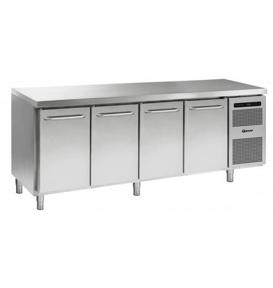 Gram Kühle Workbench SS | 3 Doors 2 + Laden | GASTRO 07 Gramm K 2207 CSG A DL / DL / DL / 2D L2 | 2163x700x885 / 950 (h) mm
