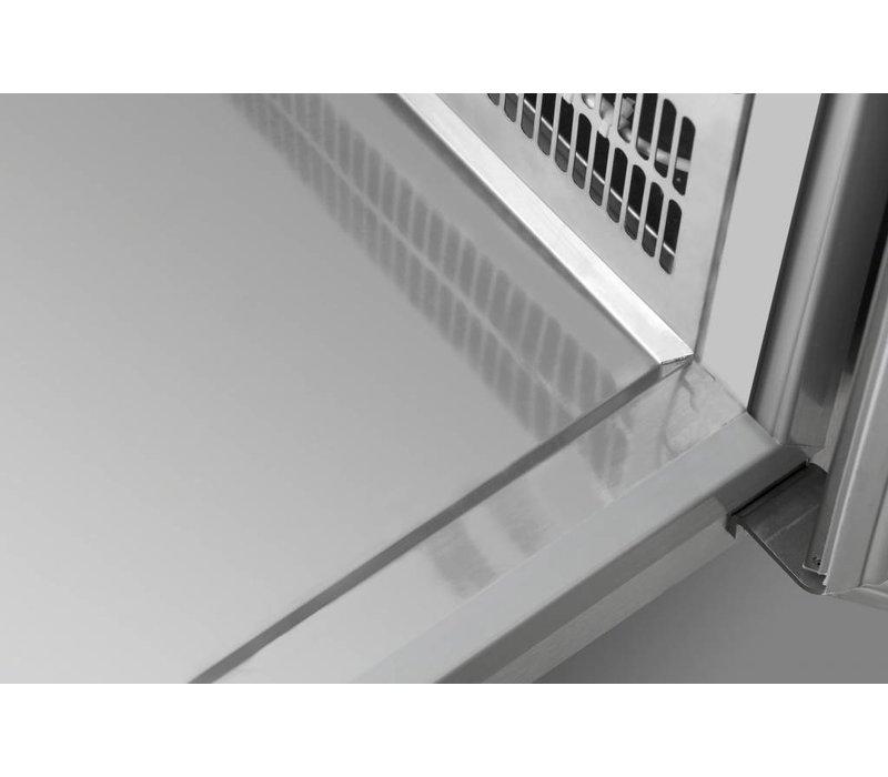 Gram Kühle Workbench SS | Türen 2 + 2 + 2 Loading | GASTRO 07 Gramm K 2207 CSG A DL / DL / 2D / 2D L2 | 2163x700x885 / 950 (h) mm