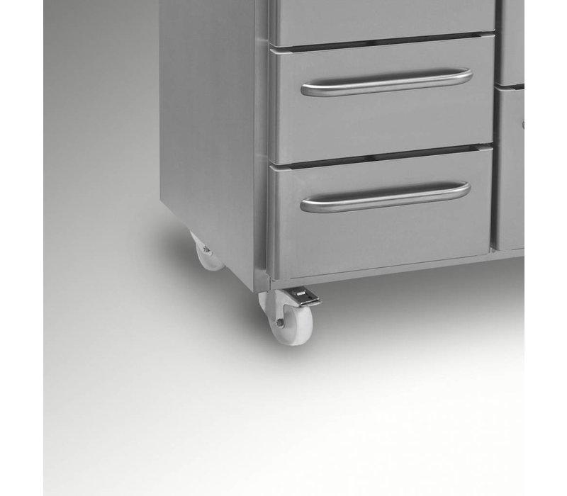 Gram Koelwerkbank RVS   2 Deurs + 2+3 Laden   Gram GASTRO 07 K 2207 CSG A DL/DL/2D/3D L2   2163x700x885/950(h)mm