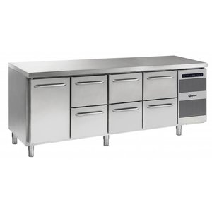 Gram Cool Workbench SS | 1 Door + 2 + 2 + 2 Loading | GASTRO 07 grams K 2207 CSG A DL / 2D / 2D / 2D L2 | 2163x700x885 / 950 (h) mm