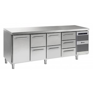 Gram Cool Workbench SS | 1 Door + 2 + 2 + 3 Drawers | GASTRO 07 grams K 2207 CSG A DL / 2D / 2D / 3D L2 | 2163x700x885 / 950 (h) mm