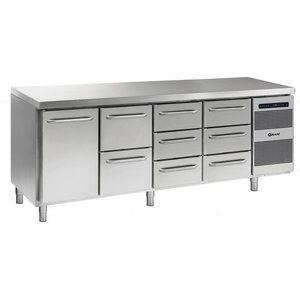 Gram Cool Workbench SS | 1 Door + 2 + 3 + 3 Drawers | GASTRO 07 grams K 2207 CSG A DL / 2D / 3D / 3D L2 | 2163x700x885 / 950 (h) mm