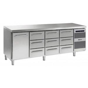 Gram Kühle Workbench SS | 1 Door + 3 + 3 + 3 Schubladen | GASTRO 07 Gramm K 2207 CSG A DL / 3D / 3D / 3D-L2 | 2163x700x885 / 950 (h) mm