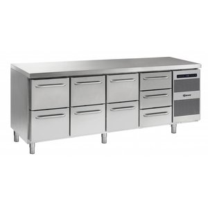 Gram Cool Workbench SS | 2 + 2 + 2 + 3 Loading | GASTRO 07 grams K 2207 CSG A 2D / 2D / 2D / 3D L2 | 2163x700x885 / 950 (h) mm