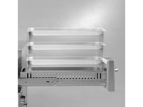 Gram Kühle Workbench SS | 2 + 2 + 2 + 3 Loading | GASTRO 07 Gramm K 2207 CSG A 2D / 2D / 2D / 3D-L2 | 2163x700x885 / 950 (h) mm