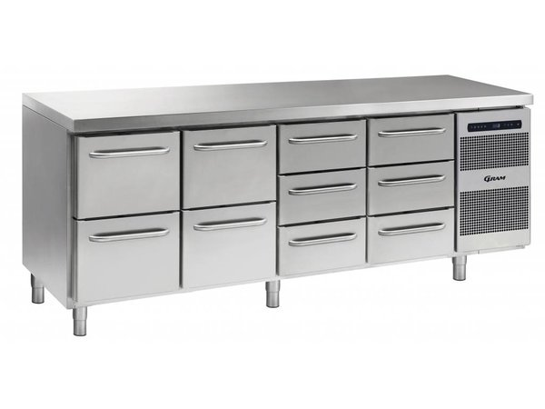 Gram Cool Workbench SS | 2 + 2 + 3 + 3 Loading | GASTRO 07 grams K 2207 CSG A 2D / 2D / 3D / 3D L2 | 2163x700x885 / 950 (h) mm