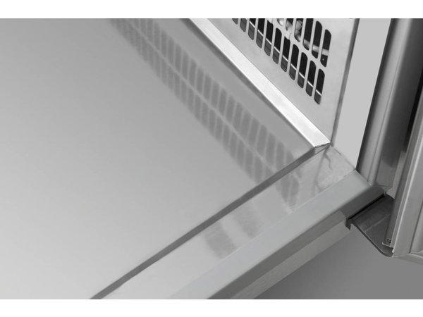 Gram Kühle Workbench SS | 2 + 2 + 3 + 3 Loading | GASTRO 07 Gramm K 2207 CSG A 2D / 2D / 3D / 3D-L2 | 2163x700x885 / 950 (h) mm