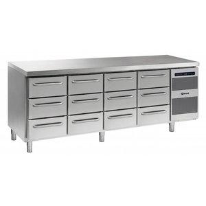 Gram Koelwerkbank RVS | 4x3 Laden | Gram GASTRO 07 K 2207 CSG A 3D/3D/3D/3D L2 | 2163x700x885/950(h)mm