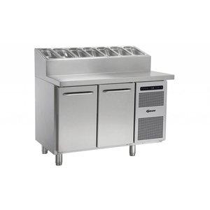 Gram Pizza Workbench SS   2 Türen + 6 x 1 / 3GN   GASTRO 07 Gramm K 1407 CSG PT DL / DR L2   1289x800x1131 / 1196 (h) mm