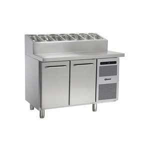 Gram Pizzawerkbank RVS | 2 Deurs + 6 x 1/3GN | Gram GASTRO 07 K 1407 CSG PT DL/DR L2 | 1289x800x1131/1196(h)mm