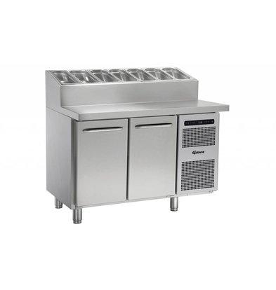 Gram Pizza Workbench SS | 2 Doors + 6 x 1 / 3GN | GASTRO 07 grams K 1407 CSG PT DL / DR L2 | 1289x800x1131 / 1196 (h) mm