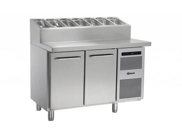 Gram Pizza Workbench SS   2 Doors + 6 x 1 / 3GN   GASTRO 07 grams K 1407 CSG PT DL / DR L2   1289x800x1131 / 1196 (h) mm