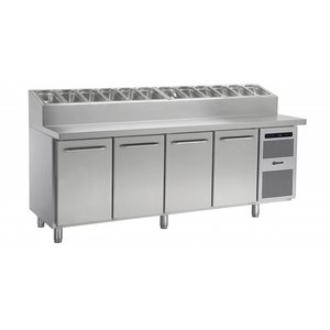 Gram Pizza Workbench SS | Doors 4 + 12 x 1/3 GN | GASTRO 07 grams K 2207 CSG PT DL / DL / DL / DR L2 | 2163x800x1131 / 1196 (h) mm