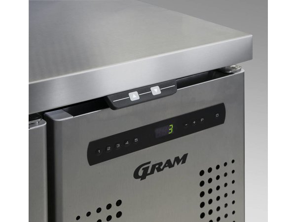 Gram Pizzawerkbank RVS | 4 Deurs + 12 x 1/3 GN | Gram GASTRO 07 K 2207 CSG PT DL/DL/DL/DR L2 | 2163x800x1131/1196(h)mm