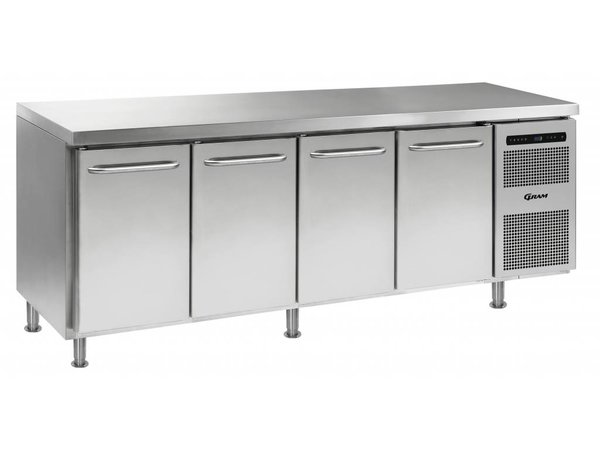 Gram Cool Workbench 4 Doors | GASTRO 07 grams K 2207 CMH AD DL / DL / DL / DR LM | 668L | 2163x700x884 (h) mm