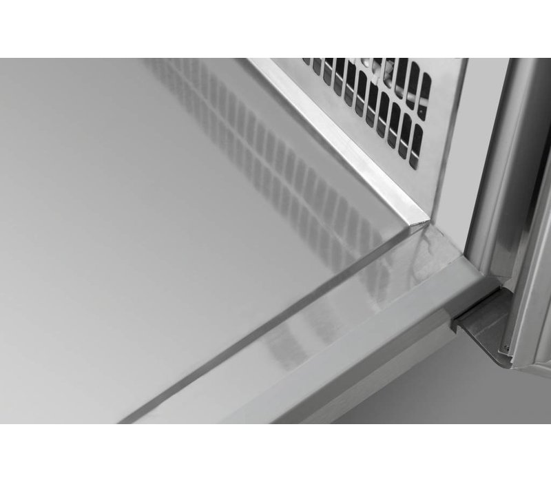 Gram Kühle Workbench 4 Türen | GASTRO 07 Gramm K 2207 CMH AD DL / DL / DL / DR LM | 668L | 2163x700x884 (h) mm