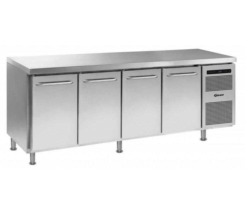 Gram Freeze-Workbench 4 Türen | Gram GASTRO 07 F 2207 CMH AD DL / DL / DL / DR LM | 668L | 2163x700x884 (h) mm