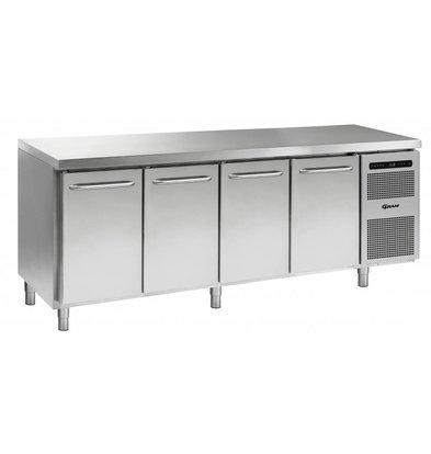 Gram Kühle Workbench 4 Türen | GASTRO 07 Gramm K 2207 CSG A DL / DL / DL / DR L2 | 668L | 2163x700x885 / 950 (h) mm