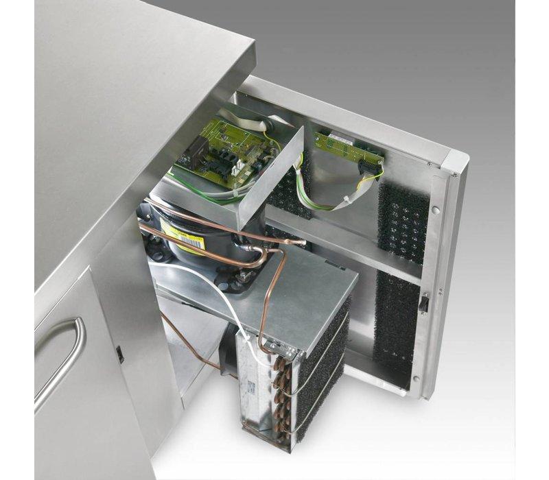 Gram Vrieswerkbank 4 Deurs | Gram GASTRO 07 F 2207 CSG A DL/DL/DL/DR L2 | 668L | 2163x700x885/950(h)mm
