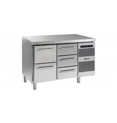 Gram Coole Workbench 2 + 3 Schubladen | GASTRO 07 Gramm K 1407 CSG A 2D / 3D-L2 | 345L | 1289x700x885 / 950 (h) mm