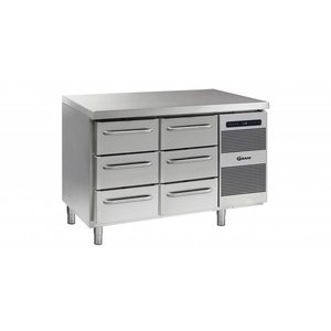 Gram Cool Workbench 3 + 3 Drawers | GASTRO 07 grams K 1407 CSG A 3D / 3D L2 | 345L | 1289x700x885 / 950 (h) mm