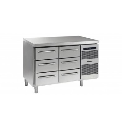 Gram Cool Workbench 3 + 3 Drawers | GASTRO 07 grams K 1407 CSG A 3D / 3D L2 | 345L | 1289x700x885 / 950 (h) mm
