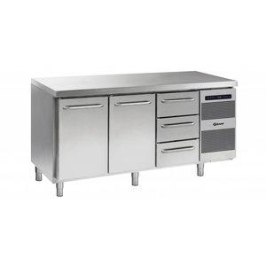 Gram Cool Workbench 2 Doors + 3 Drawers   GASTRO 07 grams K 1807 CSG A DL / DL / 3D L2   506L   1726x700x885 / 950 (h) mm