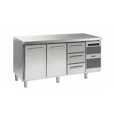 Gram Cool Workbench 2 Doors + 3 Drawers | GASTRO 07 grams K 1807 CSG A DL / DL / 3D L2 | 506L | 1726x700x885 / 950 (h) mm