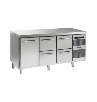 Gram Cool Workbench 1 Door + 2x2 Loading | GASTRO 07 grams K 1807 CSG A DL / 2D / 2D L2 | 506L | 1726x700x885 / 950 (h) mm