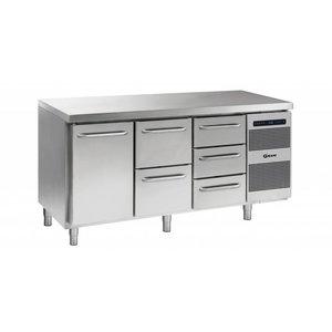Gram Cool Workbench 1 Door + 2 + 3 Drawers | GASTRO 07 grams K 1807 CSG A DL / 2D / 3D L2 | 506L | 1726x700x885 / 950 (h) mm