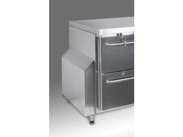 Gram Kühle Workbench 1 Door + 3 + 3 Schubladen | GASTRO 07 Gramm K 1807 CSG A DL / 3D / 3D-L2 | 506L | 1726x700x885 / 950 (h) mm