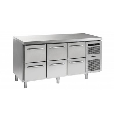 Gram Cool Workbench 3 x 2 Loading | GASTRO 07 grams K 1807 CSG A 2D / 2D / 2D L2 | 506L | 1726x700x885 / 950 (h) mm
