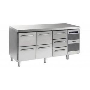 Gram Cool Workbench 2 + 2 + 3 Drawers | GASTRO 07 grams K 1807 CSG A 2D / 2D / 3D L2 | 506L | 1726x700x885 / 950 (h) mm