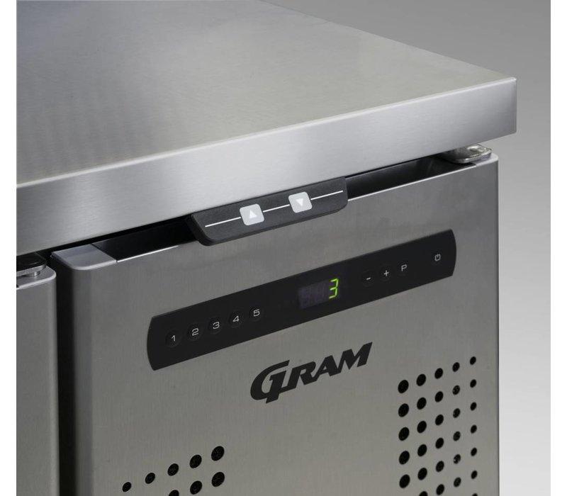 Gram Kühle Workbench 2 + 2 + 3 Schubladen | GASTRO 07 Gramm K 1807 CSG A 2D / 2D / 3D-L2 | 506L | 1726x700x885 / 950 (h) mm
