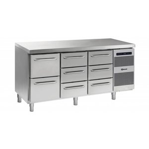 Gram Cool Workbench 2 + 3 + 3 Drawers | GASTRO 07 grams K 1807 CSG A 2D / 3D / 3D L2 | 506L | 1726x700x885 / 950 (h) mm