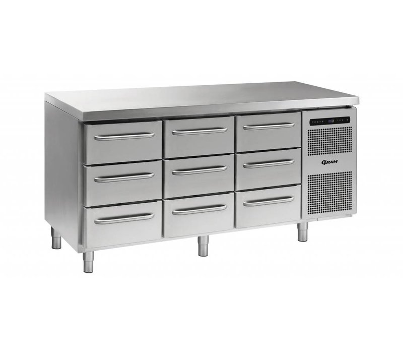 Gram Kühle Workbench 3 + 3 + 3 Schubladen | GASTRO 07 Gramm K 1807 CSG A 3D / 3D / 3D-L2 | 506L | 1726x700x885 / 950 (h) mm