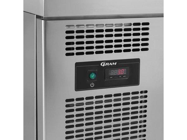 Gram Snack Counter Stainless Steel | 2x2 Loading | 07 grams GASTRO KS 0-4H | 210L | 1397x700x680 (h) mm