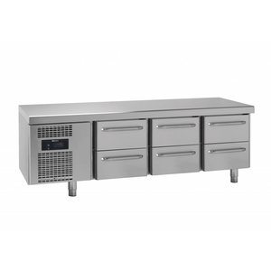 Gram Snack Counter RVS | 3x2 Laden | Gram GASTRO 07 KS 0-6H | 305L | 1850x700x680(h)mm