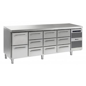 Gram Cool Workbench SS | 2 + 3 + 3 + 3 Load | GASTRO 07 grams K 2207 CSG A 2D / 3D / 3D / 3D L2 | 2163x700x885 / 950 (h) mm