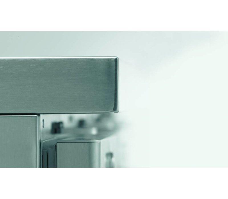 Gram Saladette RVS | 4 Deurs + 9 x 1/3 GN | Gram GASTRO 07 K 2207 CSG SL DL/DL/DL/DR L2 | 2163x700x885/950(h)mm