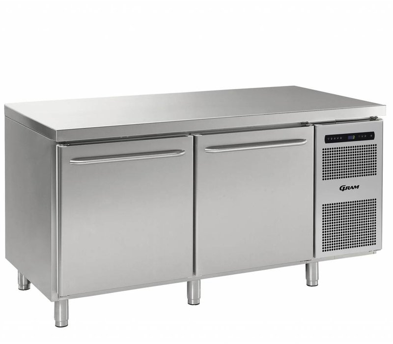 Gram Freeze-Workbench SS 2 Türen | Gram GASTRO 08 F 1808 CSG A DL DR L2 | 586L | 1698x800x885 / 950 (h) mm