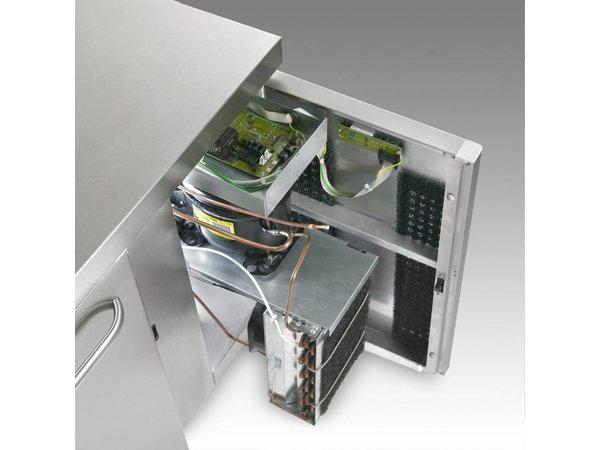 Gram Kühle Workbench SS 3 Türen | GASTRO 08 Gramm K 2408 CSG A DL / DL / DR / L2 | 865L | 2340x800x885 / 950 (h) mm