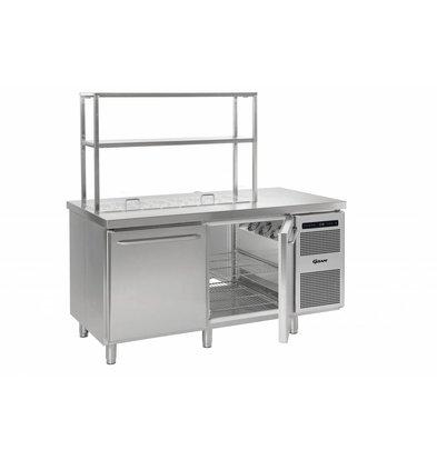 Gram Cool Workbench SS 2 Doors | GASTRO 08 grams K 1808 D CSG S OPL DL / DR / L2 | 586L | 1698x800x885 / 950 (h) mm