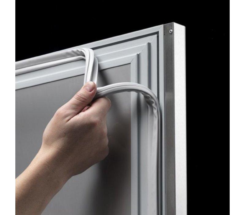 Gram Saladette SS 3 Doors | GASTRO 08 grams K CSG 2408 SL DL DL DR L2 | 2340x800x885 / 950 (h) mm