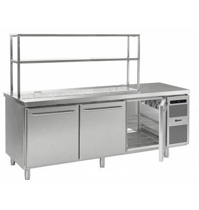 Gram Cool Workbench SS 3 Doors | GASTRO 08 grams K 2408 D CSG S OPL DL DL DR L2 | 865L | 2340870x885 / 950 (h) mm
