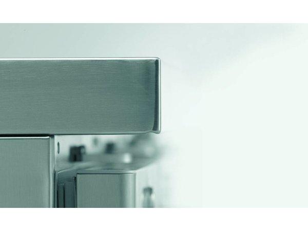 Gram Koelwerkbank RVS 3 Deurs | Gram GASTRO 08 K 2408 D CSG S OPL DL DL DR L2 | 865L | 2340870x885/950(h)mm