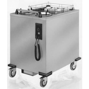 Mobile Containing Verrijdbare Stapelaar Verwarmd | Mobile Containing 2 THOUS-MS | Dienbladen | Stapelunit op Maat Gemaakt