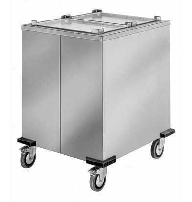 Mobile Containing Verrijdbare Stapelaar Onverwarmd | Mobile Containing S-MS/A | 2/1 GN | 650x530mm